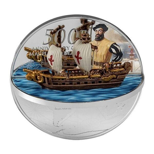 Ferdinand Magellan 2 oz Proof Silver Coin 5$ Niue 2021