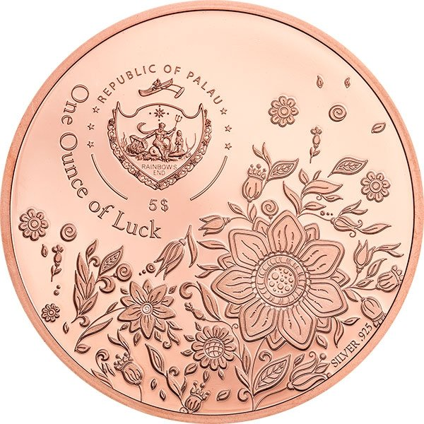 Ounce of Luck 1oz Proof Silver Coin 5$ Palau 2020