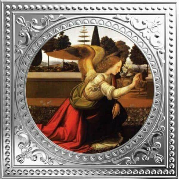 Archangel Gabriel - Leonardo Da Vinci Divine Guardians of Humanity Proof Silver Coin 1$ Niue 2018