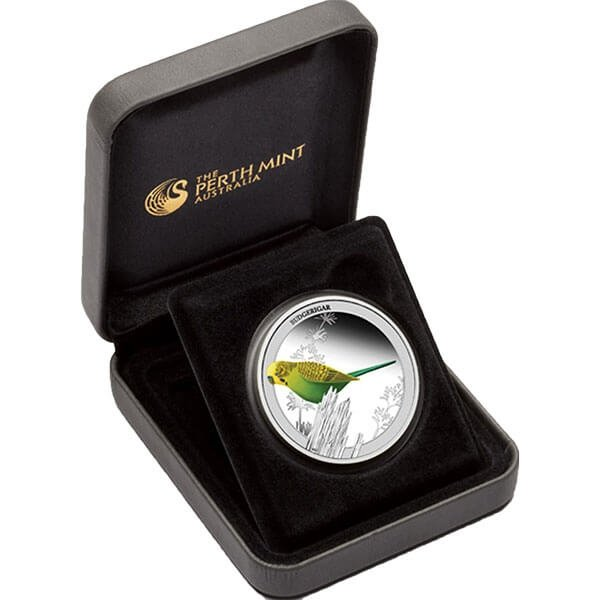 Australia 2013 50 cents Budgerigar Birds of Australia Series 1/2oz Proof Silver Coin