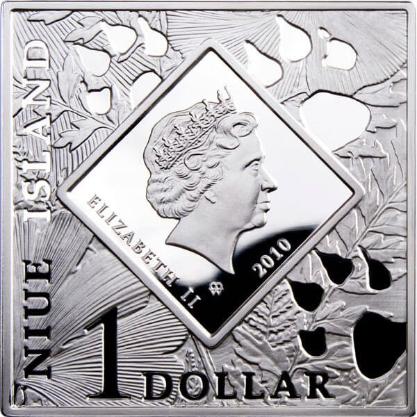 Niue 2010 1$ Venus Flytrap Oddities of Nature Proof Silver Coin