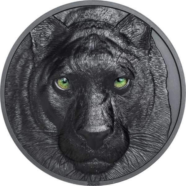 Black Panther Hunters by Night 2 oz Black Proof Silver Coin 10$ Palau 2020