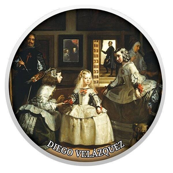 Diego Velazquez – The Ladies – in Waiting Pride of European Painting Proof Silver Coin 500 Francs Cameroon 2017