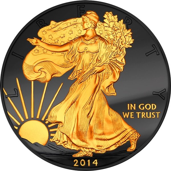 United States 2014 1$ Golden Enigma Edition 2014 - Walking Liberty BU Silver Coin