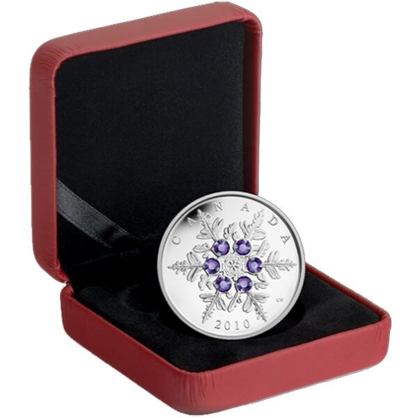 Tanzanite Snowflake  2010 Proof Silver Coin 20$ Canada 2010