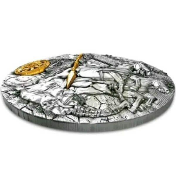 Chariot 2 oz Antique finish Silver Coin 5$ Niue 2019