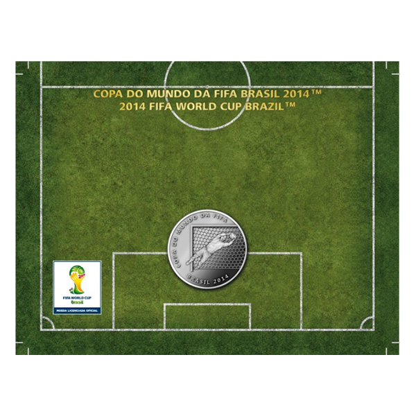 Brazil 2014 2 Reais - Defense 2014 FIFA WORLD CUP Brazil Cu/Ni  Coin