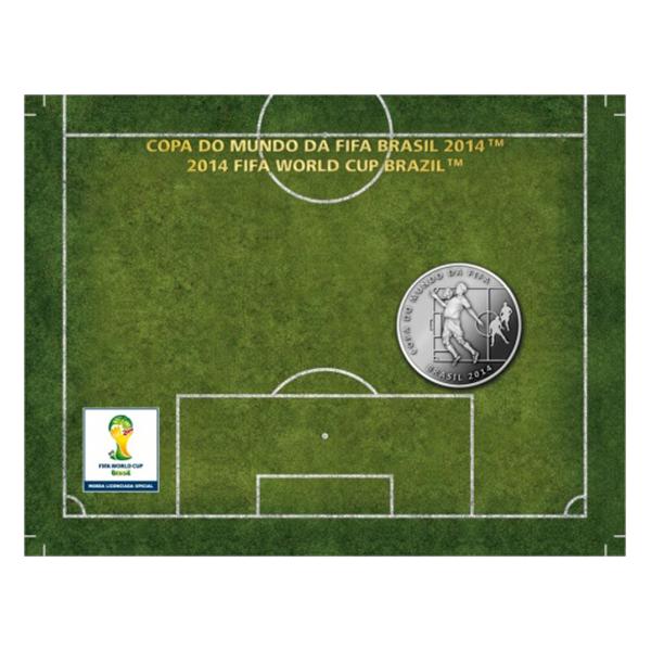 Brazil 2014 2 Reais - Chest 2014 FIFA WORLD CUP Brazil Cu/Ni  Coin