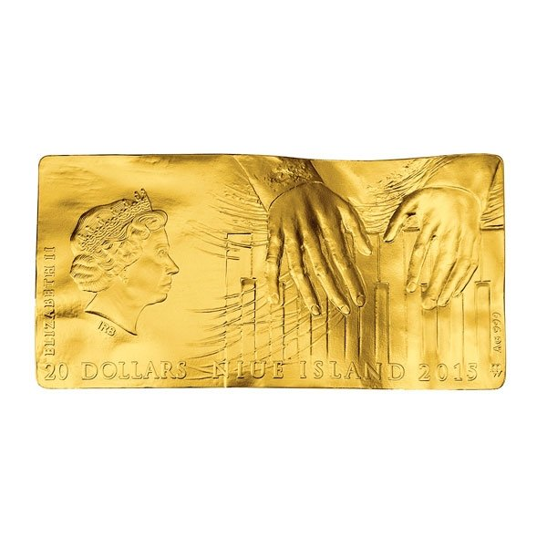 Niue 2015 20$ Frederic Chopin's Score4oz Gilded Proof Silver Coin
