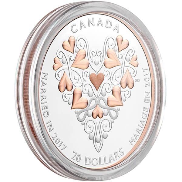 Canada 2017 20$ Wedding Day 1 oz Proof Silver Coin