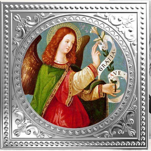 Archangel Gabriel - Italian School Divine Guardians of Humanity Proof Silver Coin 1$ Niue 2018