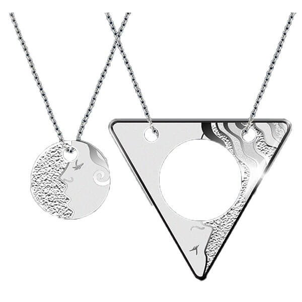 Just the Two of Us Proof Silver Pendant Set 2 x 500 Francs Cameroon 2018