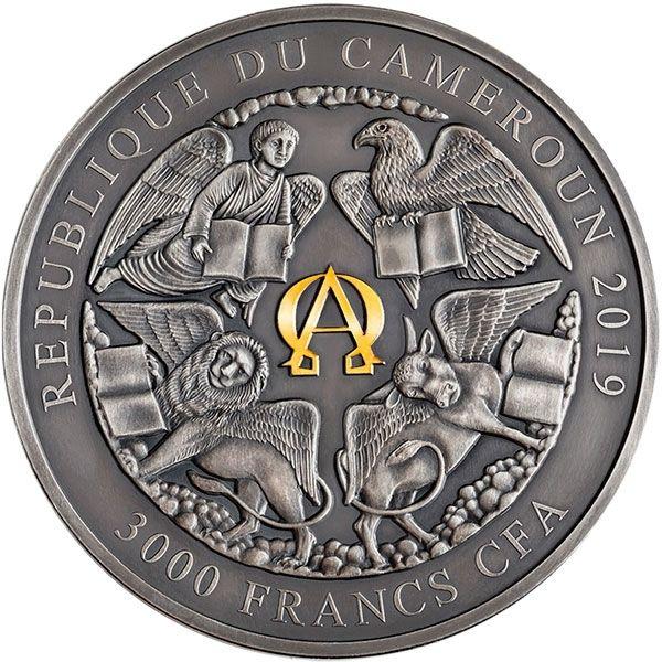 The Four Horsemen of The Apocalypse Apocalypse 3 oz Antique finish Silver Coin 3000 Francs CFA Cameroon 2019