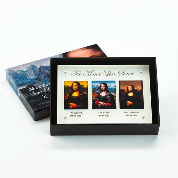 Niue 2014 3 x 5$ The Mona Lisa Sisters (The Louvre, The Prado, The Isleworth) Rimless Colourprint Silver Set