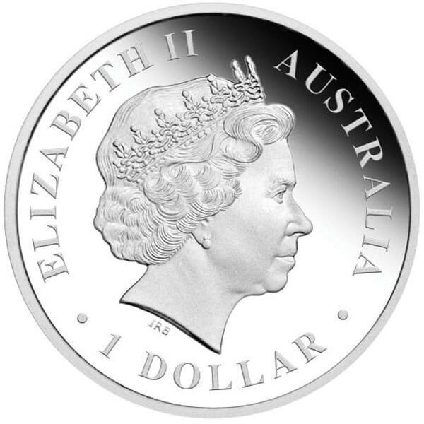 Discover Australia  - Tasmanian Devil Proof Silver Coin 1$ Australia 2011