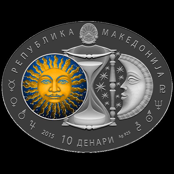 Macedonia 2014 10 Denars Gemini  Signs of the Zodiac Proof Silver Coin