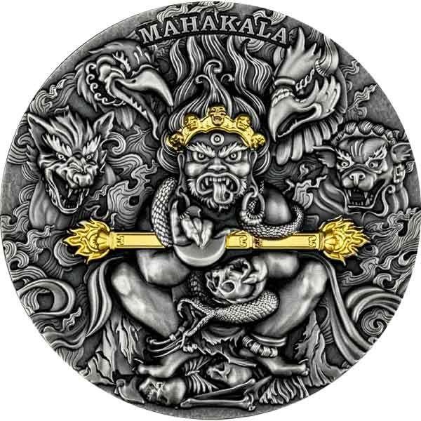 Mahakala 2 oz Antique finish Silver Coin 2000 Francs Cameroon 2020