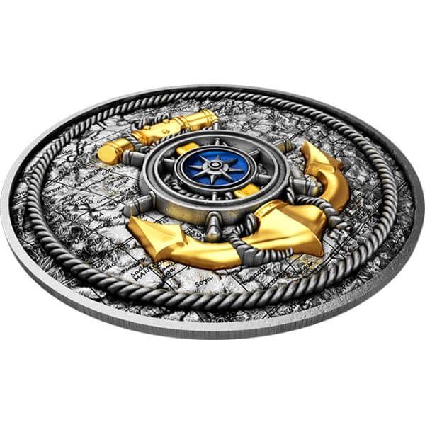 Anchor 2 oz Antique finish Silver Coin 5$ Niue 2019