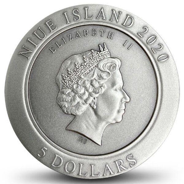 96 Rat 96 Zodiac 2 oz Antique finish Silver Coin 5$ Niue 2020
