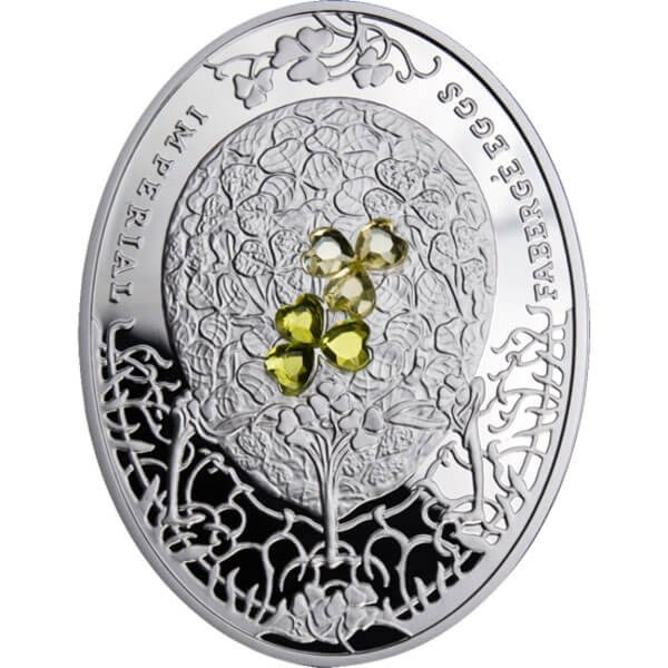 Niue 2010 2$ Clover Leaf Eggs Imperial Fabergé Eggs Proof Silver Coin