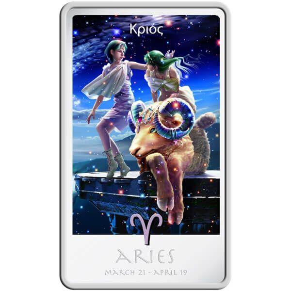 The Aries Zodiac Series Art by Kagaya Proof Silver Coin 2$ Niue 2011