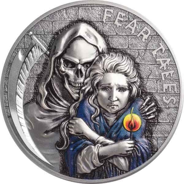 Little Match Girl  Fear Tales 2 oz Antique finish Silver Coin 10$ Palau 2020