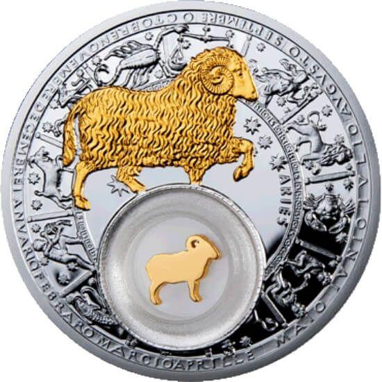 Belarus 2013 20 rubles Aries Belarus Zodiac 2013 Proof Silver Coin