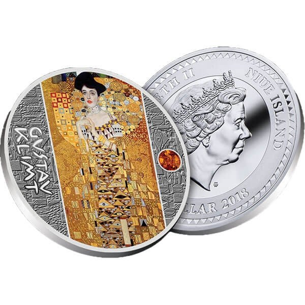 The Lady in Gold Golden Five Proof Silver Coin 1$ Niue 2018