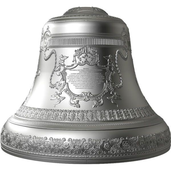 Tsar Bell 4 oz 3D Bell-Shaped Proof Silver Coin 10$ Niue 2017