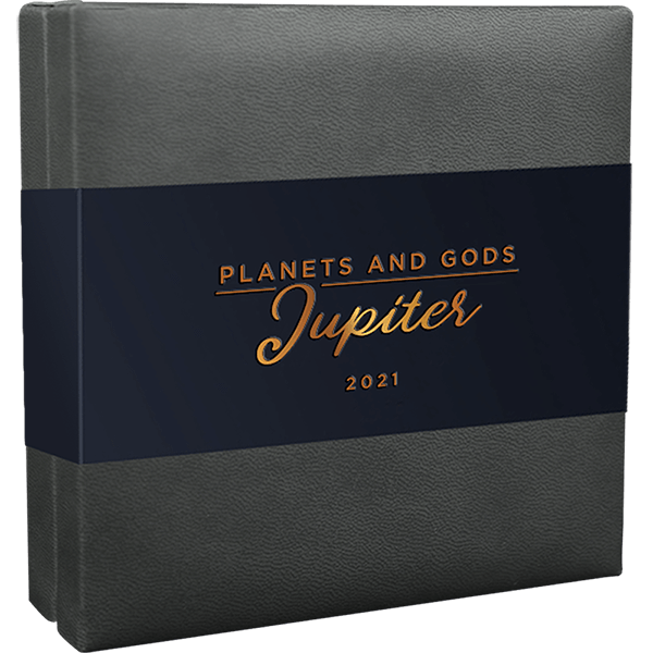 Jupiter Planets and Gods 3 oz Antique finish Silver Coin 3000 Francs CFA Cameroon 2021