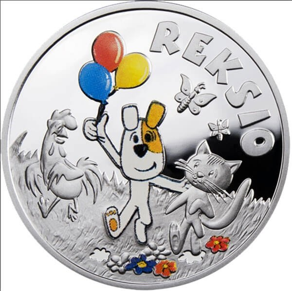 Reksio Cartoon Characters Proof Silver Coin 1$ Niue 2011