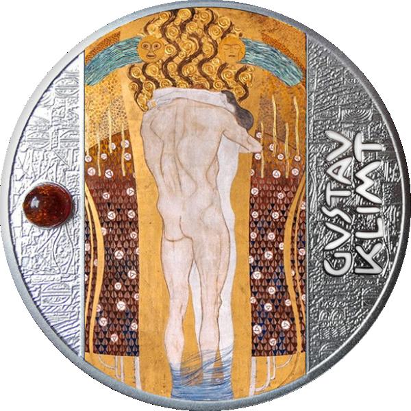 Beethoven Frieze Gustav Klimt Proof Silver Coin 500 Francs CFA Cameroon 2021