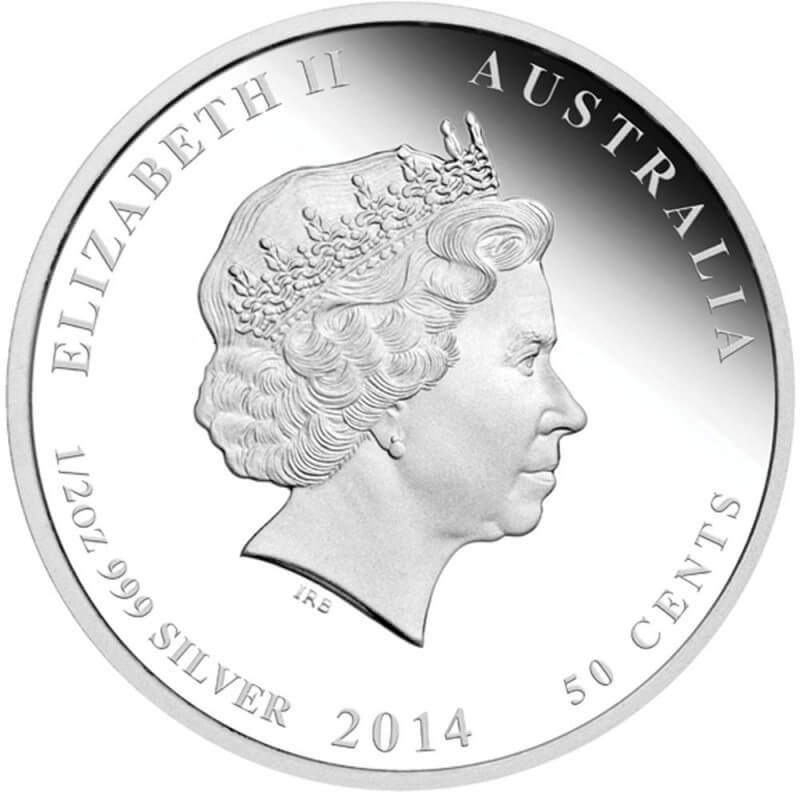Australia 2014 1$  Year of the Horse Australian Lunar Series II 2014 Colored 1 Oz Proof Silver Coin