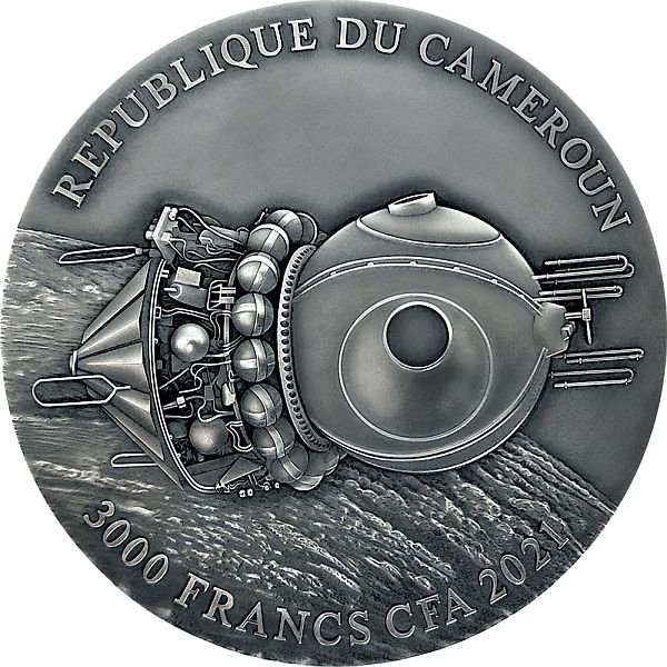 Vostok-1 3 oz Antique finish Silver Coin 3000 Francs CFA Cameroon 2021