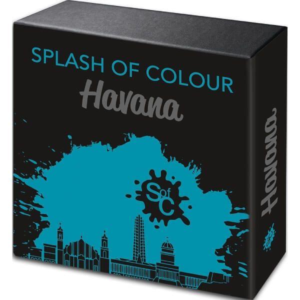 Havana Splash Of Colour  2 oz Antique Finish Silver Coin 5$ Samoa 2021