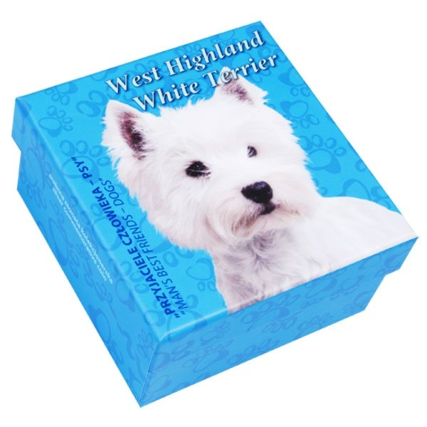 Niue 2014 1$ White Terrier Man's Best Friends Proof Silver Coin