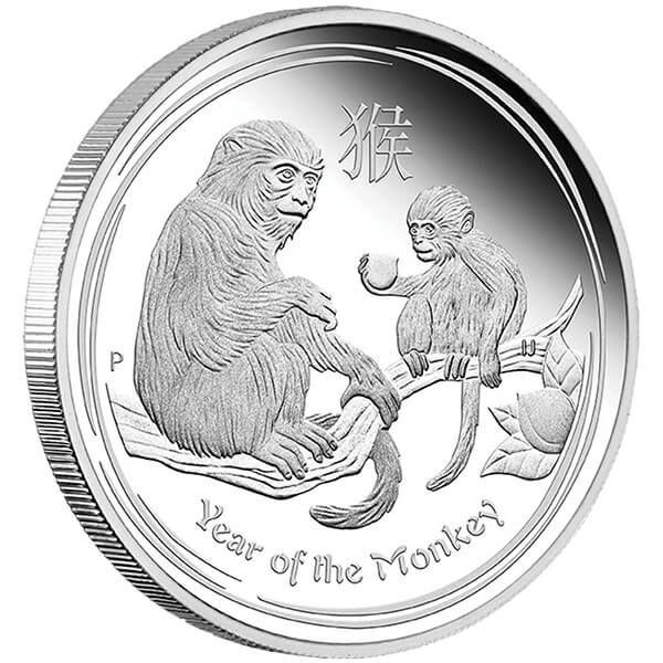 Australia 2016 1$  Year of the Monkey Australian Lunar Series II 2016 1 oz Proof Silver Coin