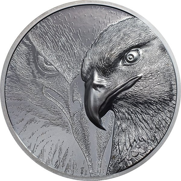 Majestic Eagle  2 oz Black Proof Silver Coin Mongolia 2020 1000 togrog
