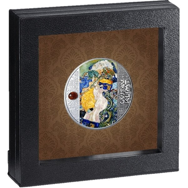 Baby Golden Five Gustav Klimt Proof Silver Coin 500 Francs CFA Cameroon 2021