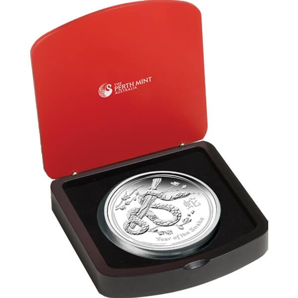 Australia 2013 30$ Year of the Snake Lunar Series II 1 Kilo Proof Silver Coin