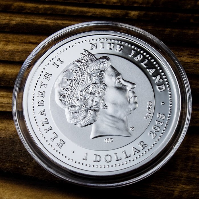 Symbols of Nature - seal Proof Silver Coin 10 g 1$ Niue 2015