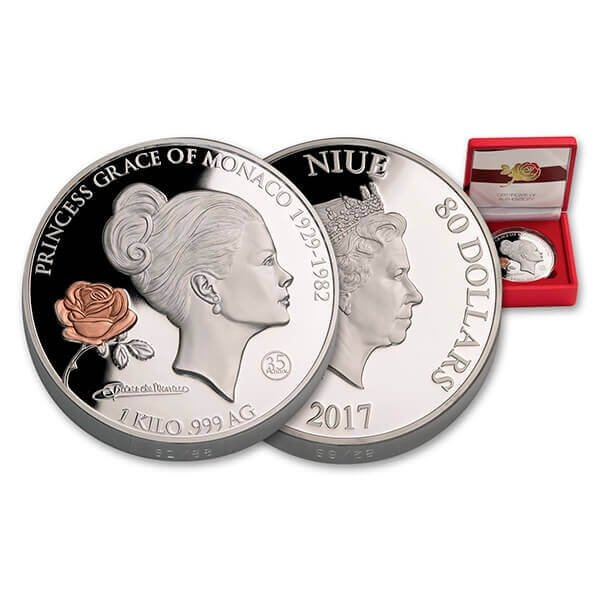 Niue 2017 80$ Grace Kelly Proof-like Silver Coin