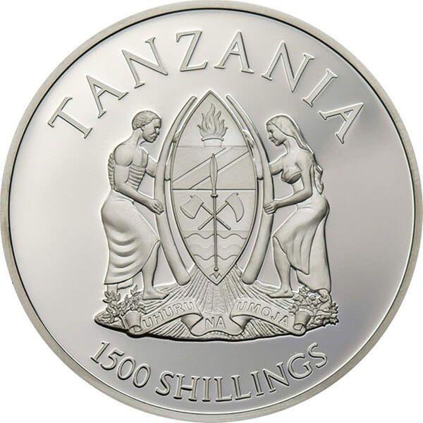 Tanzania 2017 1000 Shillings Royal Bengal Tiger Rare Wildlife 2 oz Proof Silver Coin