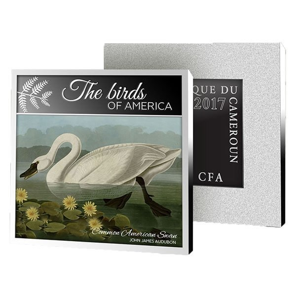 Common American Swan American Flamingo Proof Silver Coin 500 Francs Cameroon 2017