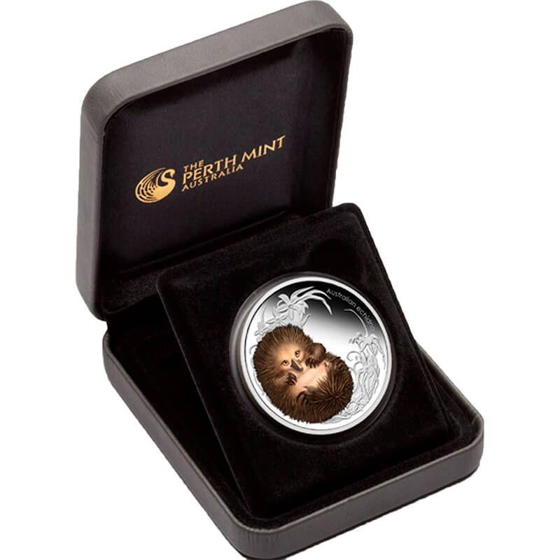 Australia 2013 50 cents Echidna Australian Bush Babies II 1/2oz Proof Silver Coin