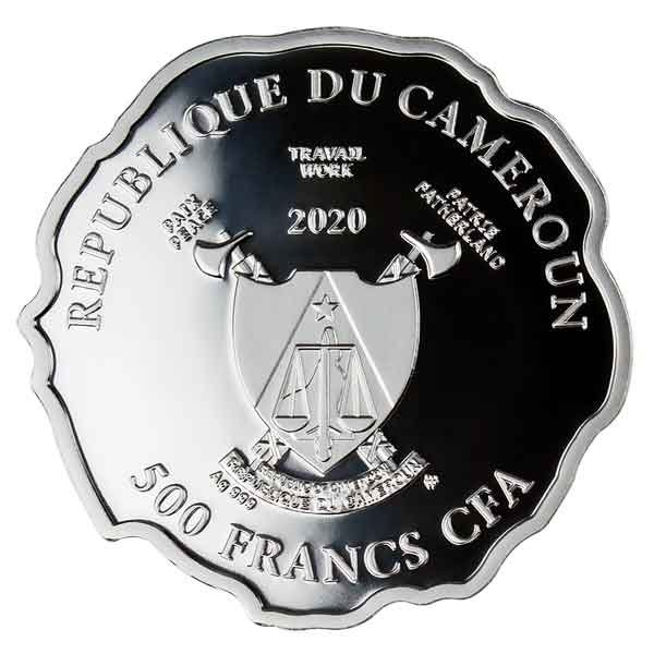 Born to Be Happy Proof Silver Coin 500 Francs Cameroon 2020