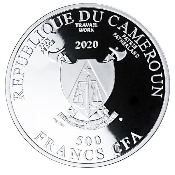 Transfiguration of Jesus Raphael Proof Silver Coin 500 Francs Cameroon 2020