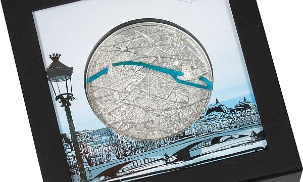 Paris Tiffany Art 3 oz Proof Silver Coin 20$ Palau 2021