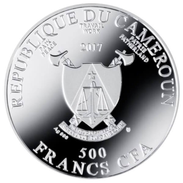The Birth of Venus Pride of European Painting Proof Silver Coin 500 Francs Cameroon 2017