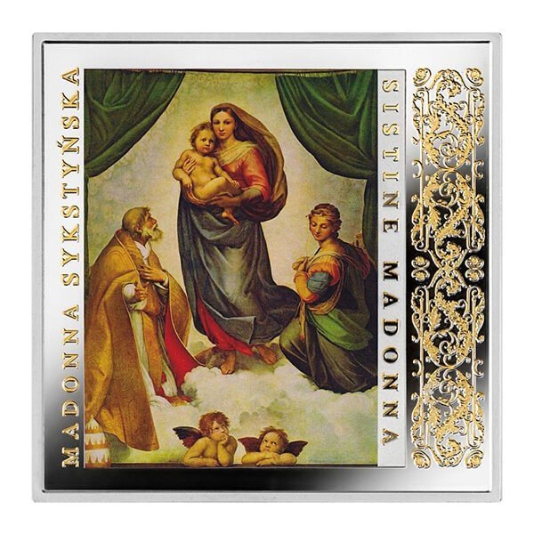Niue 2016 1$ Sistine Madonna Masterpieces of the Renaissance  Proof Silver Coin